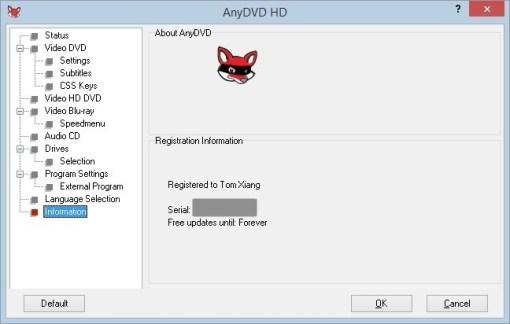 AnyDVD HD 8.4.9.0 Crack Plus Full Keygen Free Version
