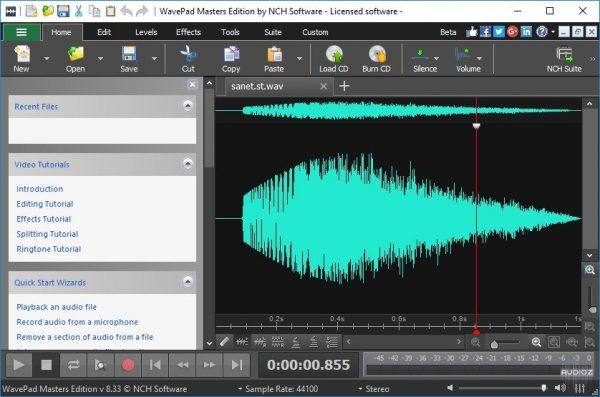 WavePad Sound Editor Crack 10.97 & Serial Number/Key Latest